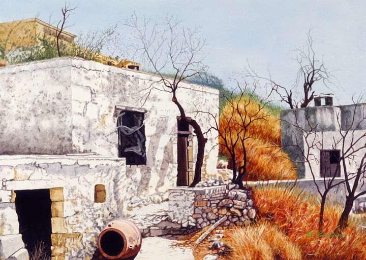 Old Village - Gonalakis Art