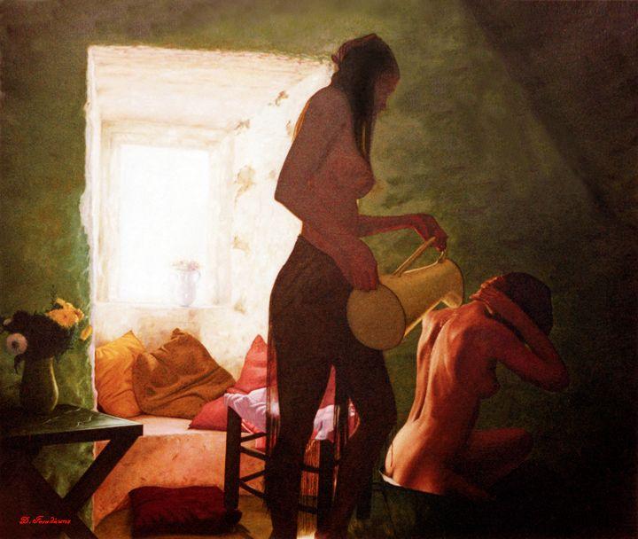 Girls Bath - Gonalakis Art