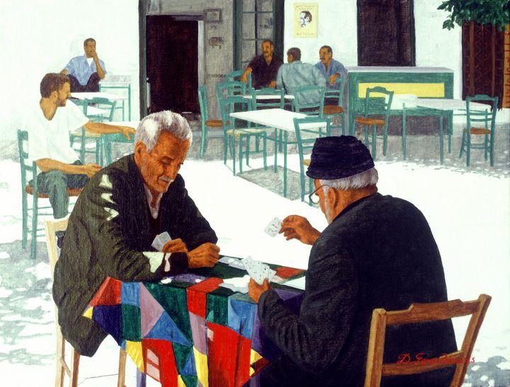 Afternoon at Kafenio - Gonalakis Art