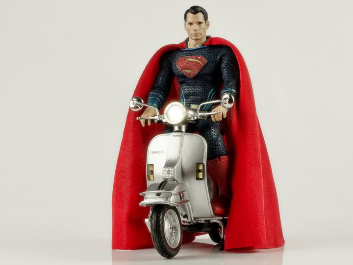 Superman Henry Cavill in Vespa - David Fuentes's Art