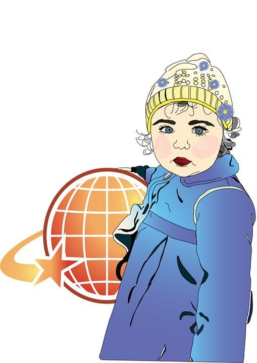 baby girl holding ball - Delfi's gallery
