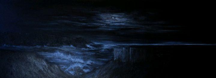 Midnight across the bay - atmosphericart