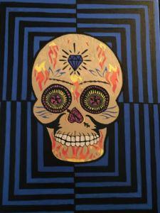 Sugar skull optical illusion