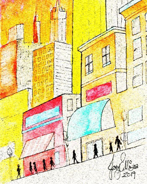 Pastel Street by Joey Ellison - Joey Art Live