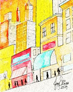 Pastel Street by Joey Ellison