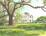 Oak Villa Original Watercolor