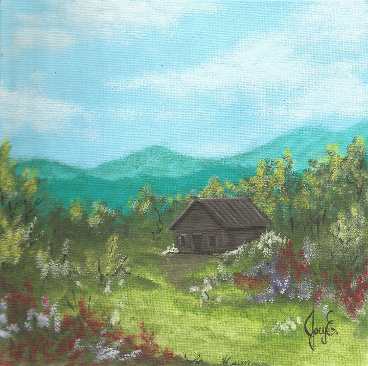 Little Cabin Home by Joey Ellison - Joey Art Live