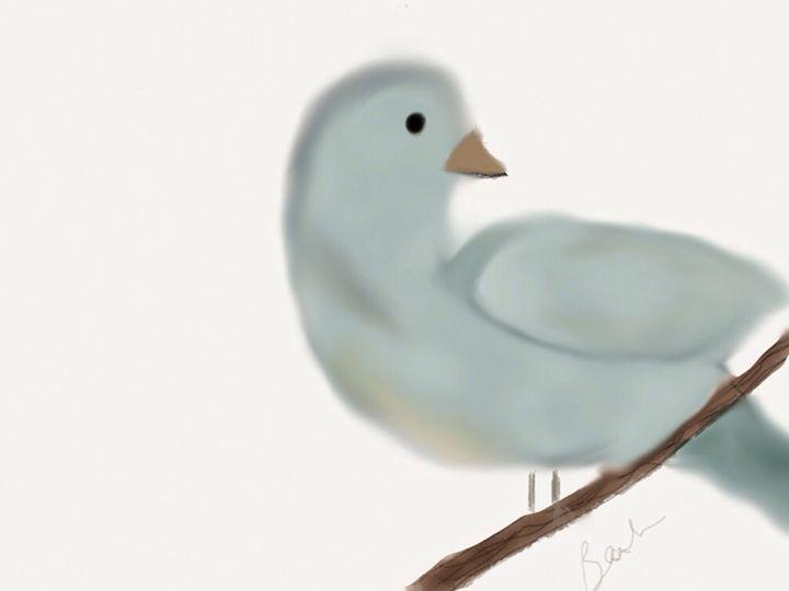 Looking bird - Barbara Marlin