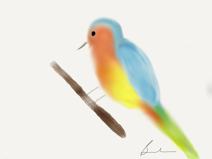 Vibrant bird - Barbara Marlin