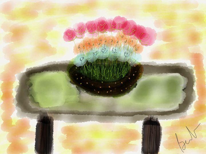Flower bowl table scape - Barbara Marlin