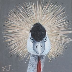 Bird Portrait - Crowned Crane