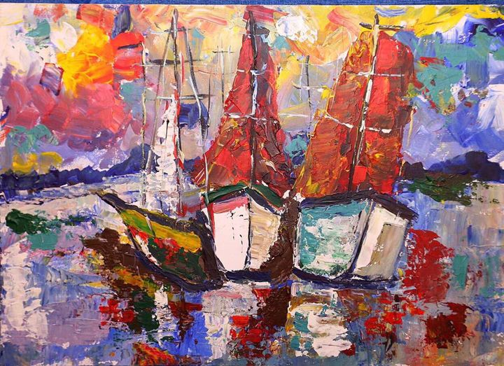Sailboats - Pavlo's Art