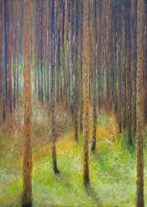Homage to Klimt pine forest 2 - Emilia Milcheva