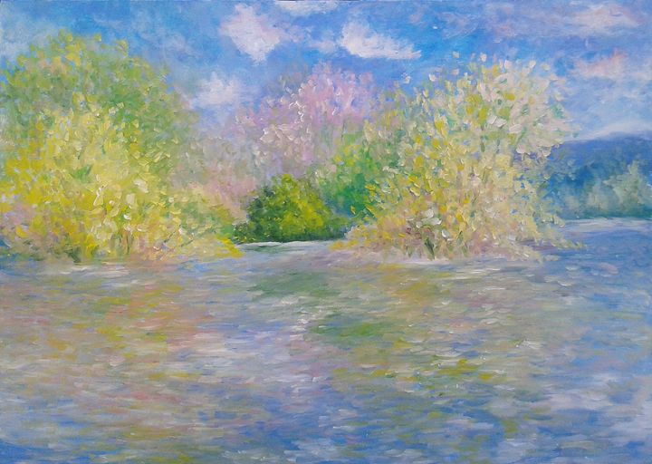 Homage to Monet, The Seine near Give - Emilia Milcheva