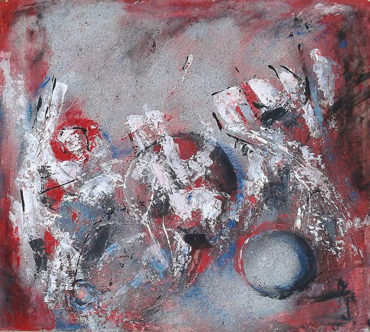 Star Dust, original painting 57x52cm - Emilia Milcheva