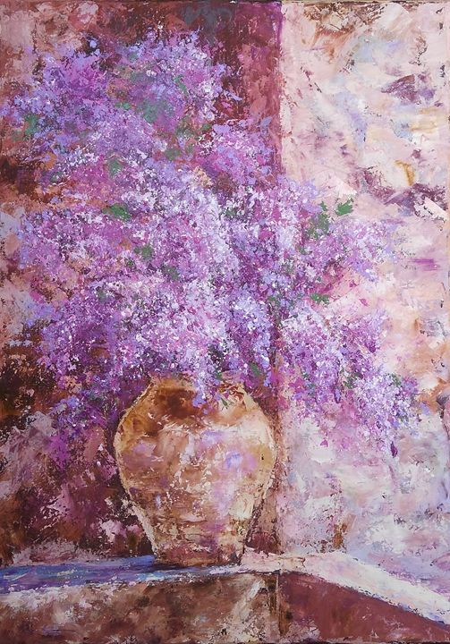 LILAC SPLENDOR original painting - Emilia Milcheva