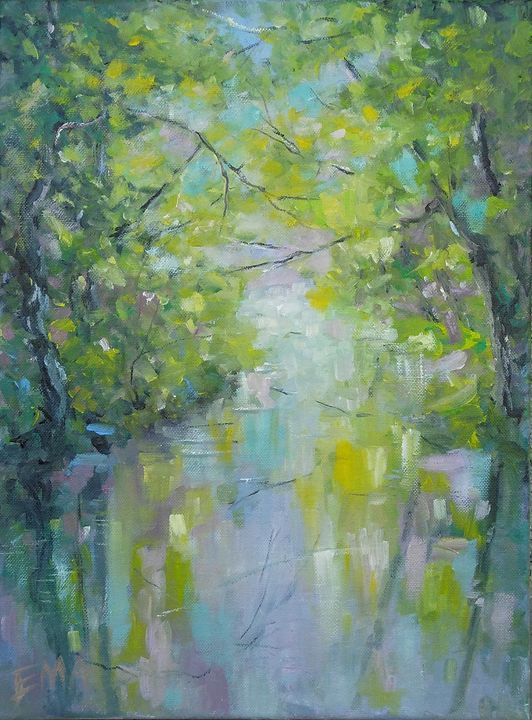 The spring and the river are talking - Emilia Milcheva
