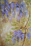 original painting of wisteria bloom