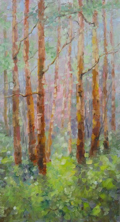 An April day in woods - Emilia Milcheva