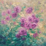 original painting of roses bush