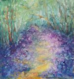 original painting of spring meadow