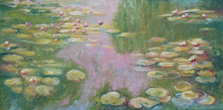 Replica of Monet's water lilies - Emilia Milcheva