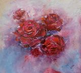original painting red roses