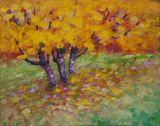 original autumn trees painting