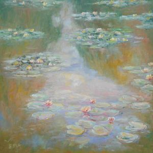 Replica of Monet's water lilies