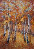 original painting autumnal scenery
