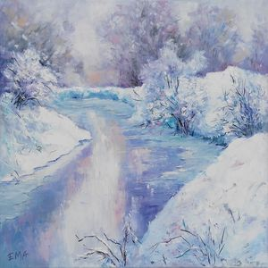 WINTER POETRY #2, 50x50cm, original