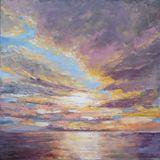original painting sky scenery