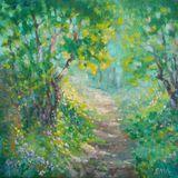 original painting woods scenery