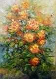 original painting of roses