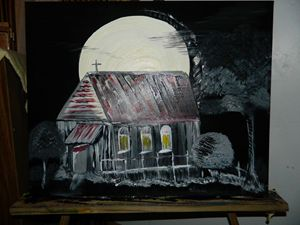 Black & White Moonlight Acrylic