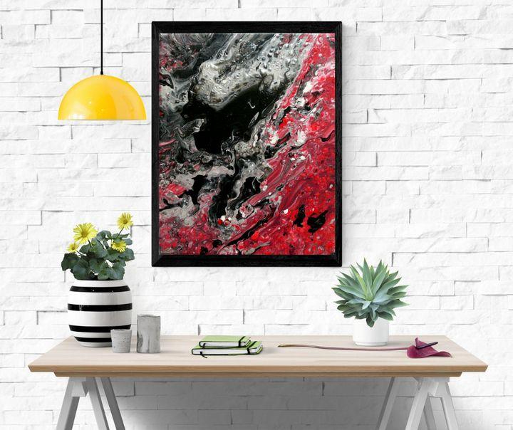 'Black heart' - 24cm X 30 cm canvas - Ancrea