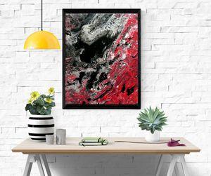 'Black heart' - 24cm X 30 cm canvas