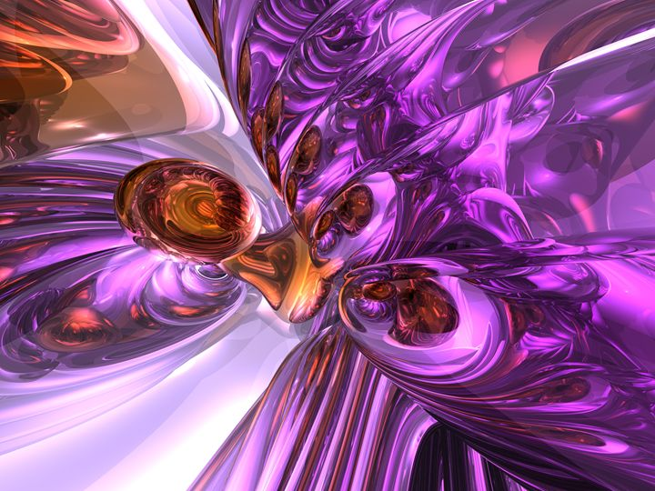 Purple Butterfly Abstract - World of Alexander Butler