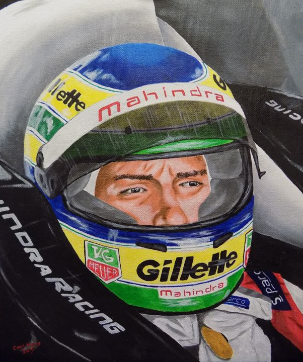 Bruno Senna Mahindra Racing - Carl Hines Art