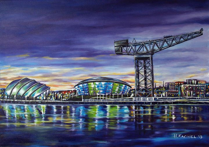 Glasgow at night - Hanna Kaciniel