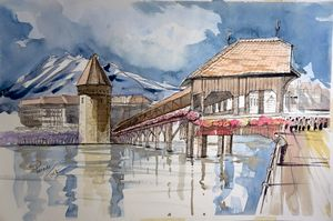 Chaple  Bridge, Lucerne, Switzerland