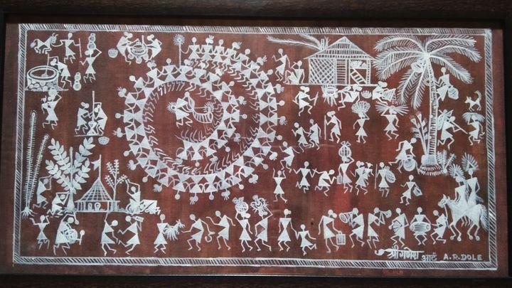 Adivasi warali painting - Shree Ganesh art