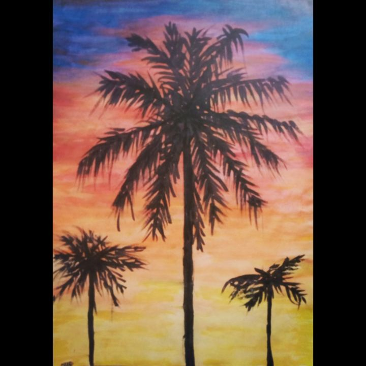 Palm trees in sunset - Dufs.designs
