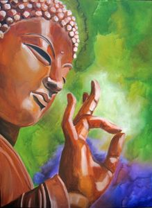 Buddha print on canvas