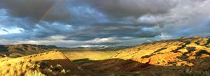 Rainbow at Painted Hills