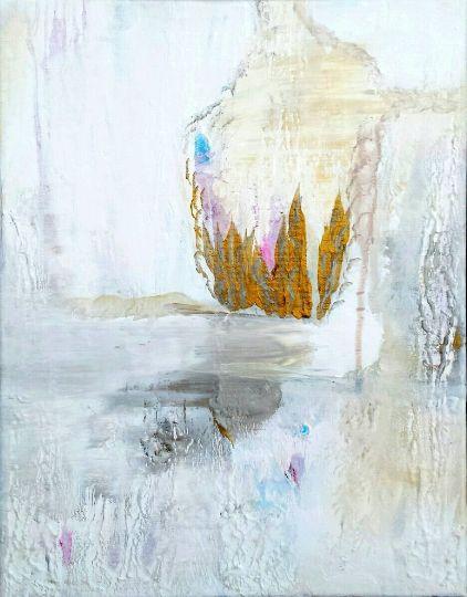 White Meditation, original painting; - ArtBySarahHinnant
