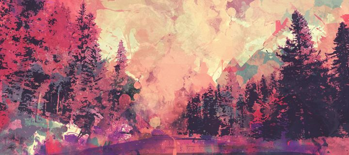 Colorful Forest - Ionut Nechifor ARTGallery