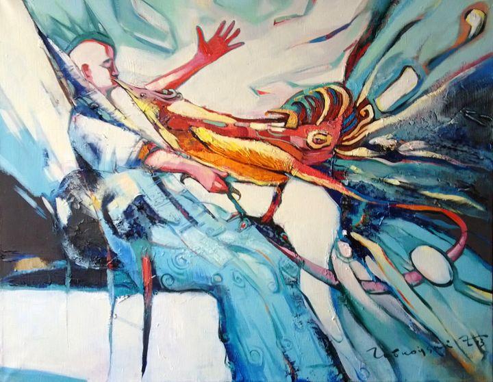 Freedom bird, the kiss - Labkouski Art