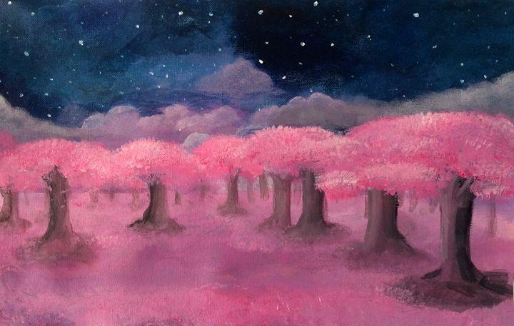 Cherry Blossom Field - Charlotte XU