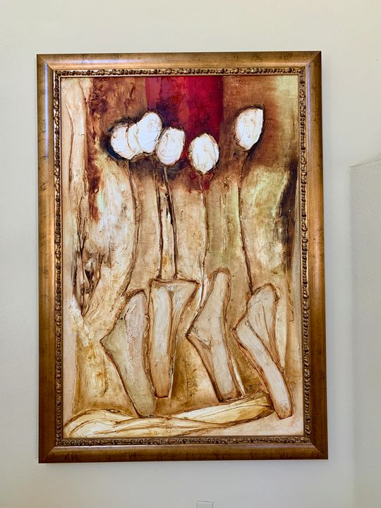 Original encaustic painting - Karen